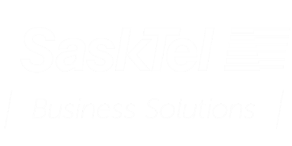 SaskTel Business Solutions Logo_Colour_White